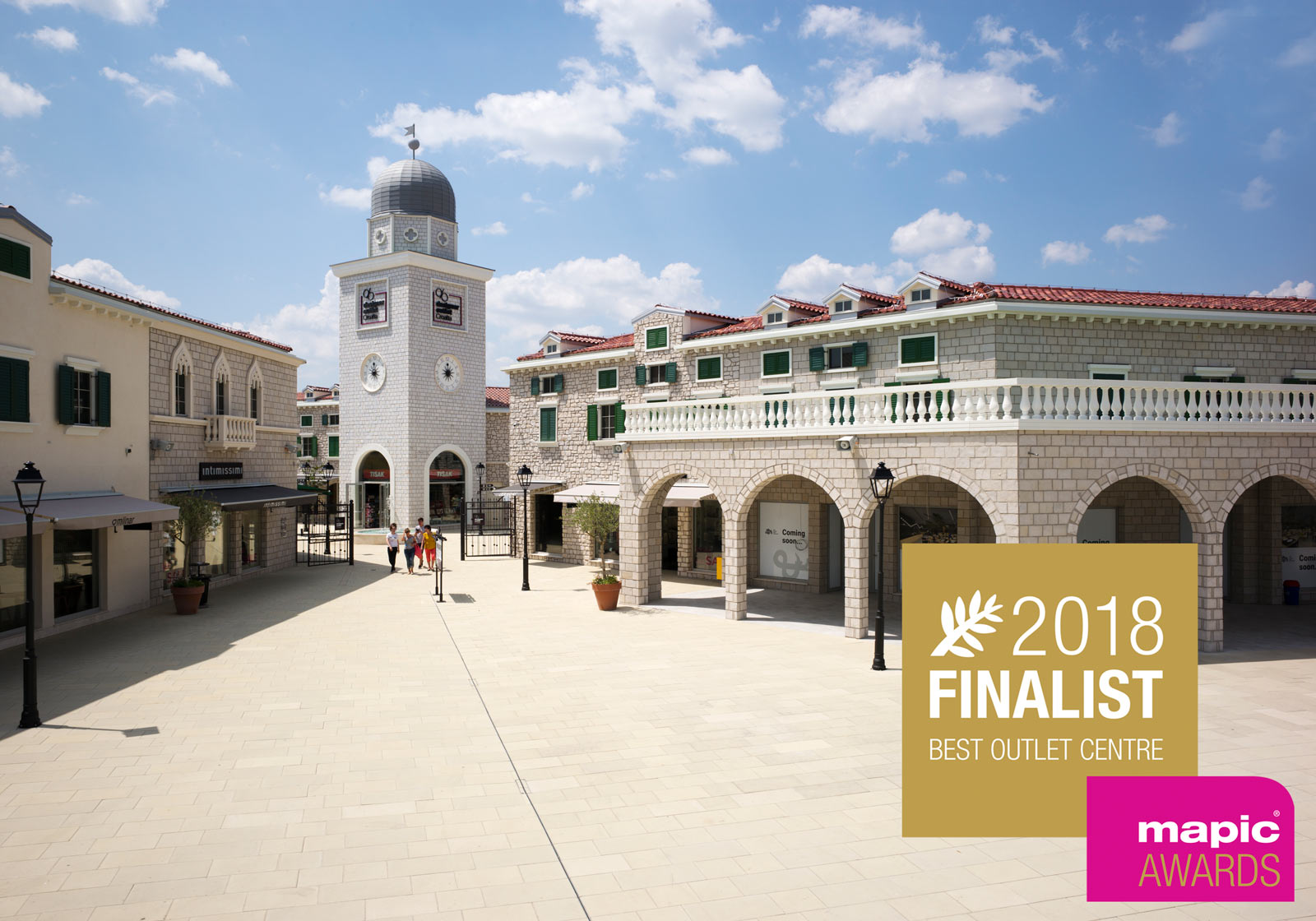 "DO Croatia is one of the MAPIC finalists in the category ""Best Outlet Center"". Photo: ATP/Friedmann; Logo: MAPIC"