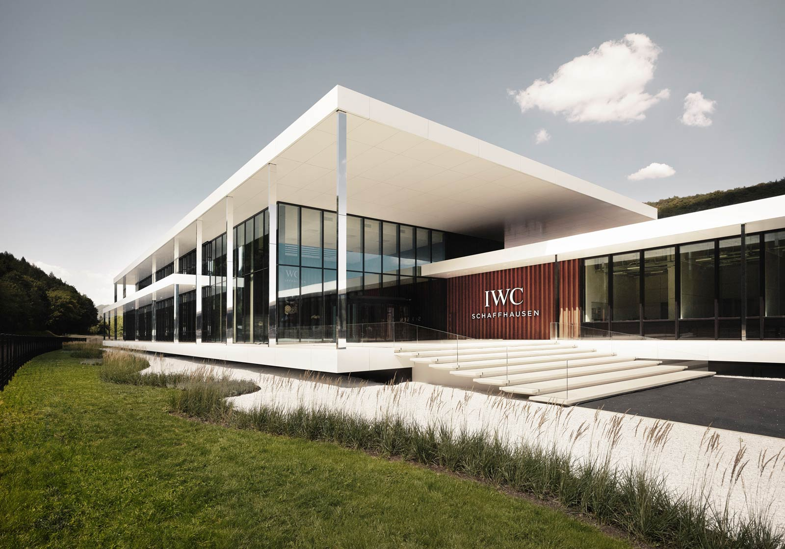 Integrally designed with BIM by ATP Zurich: The IWC Manufacturing Center. Photo: IWC Schaffhausen