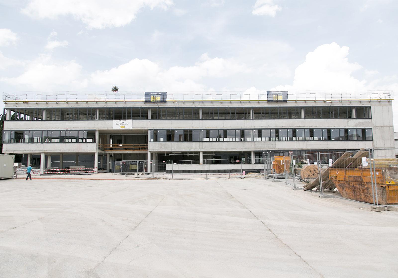 The concrete shell of the new three-storey office building. Photo: PORR AG/APA-Fotoservice/Rastegar