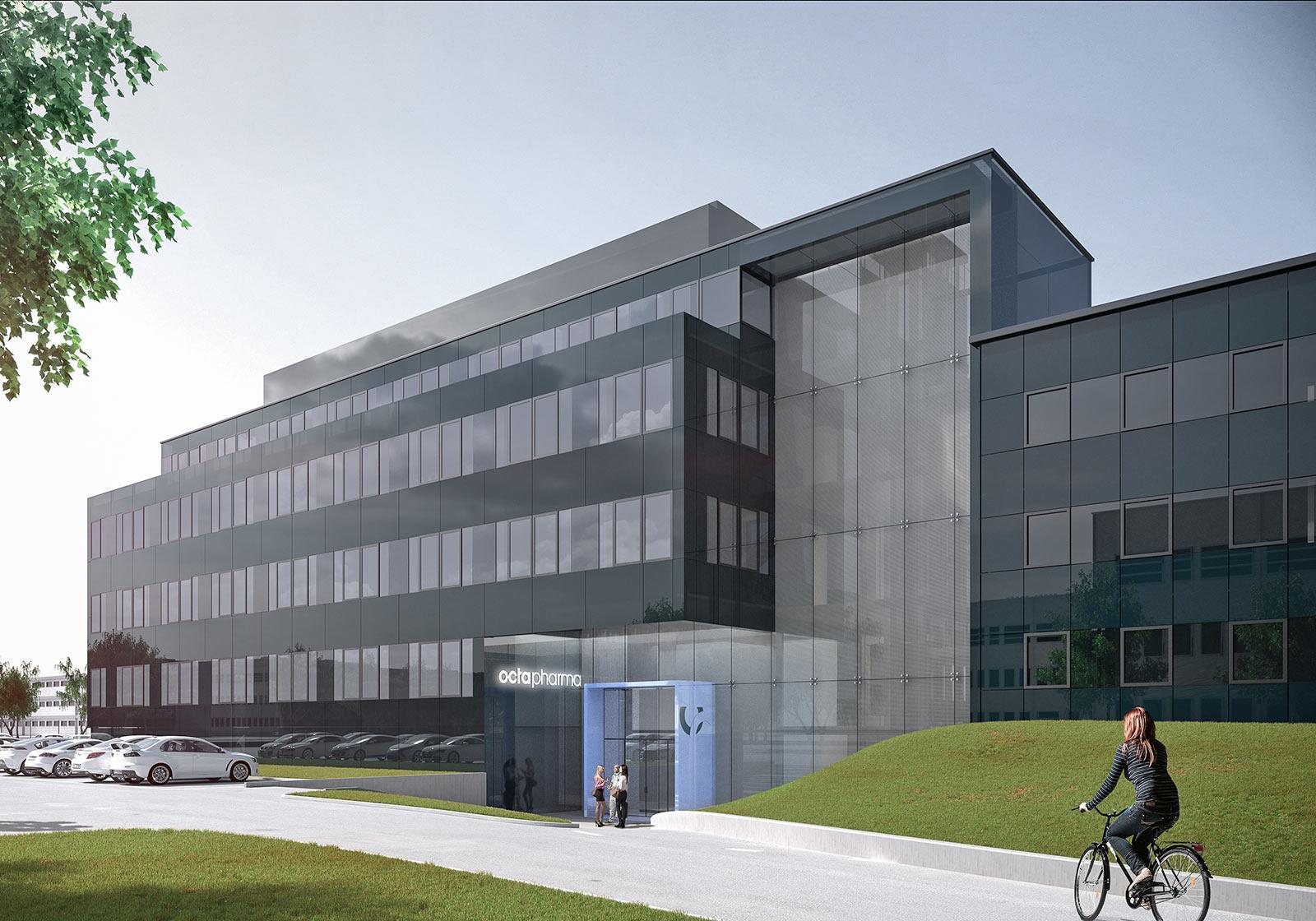 Головное здание департамента R&D располагает современными помещениями для исследований и административных функций. Визуализация: ATP