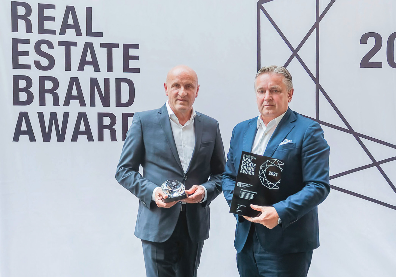 from left: The ATP partners Horst Reiner and Dario Travaš at the ceremony. Photo: EUREB/Lothar Koethe Photography