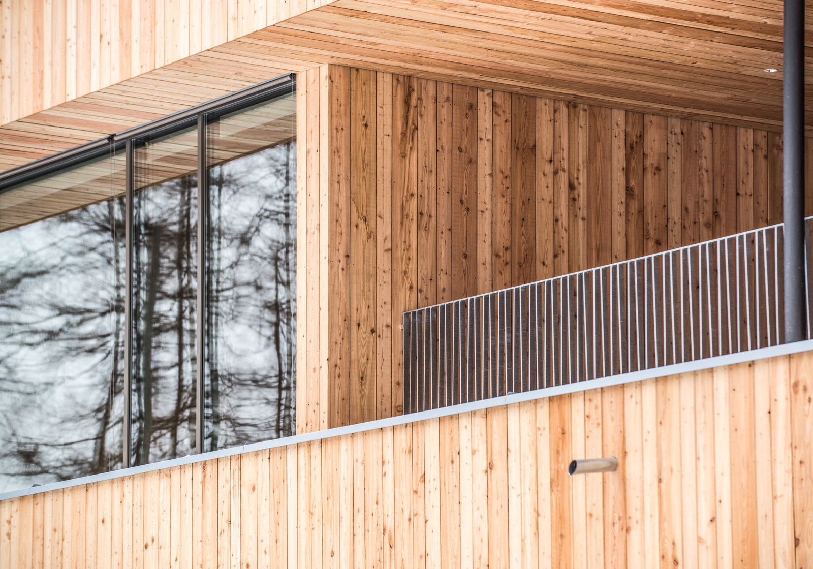 The untreated façade of larchwood planks. Photo: ATP/Philipp