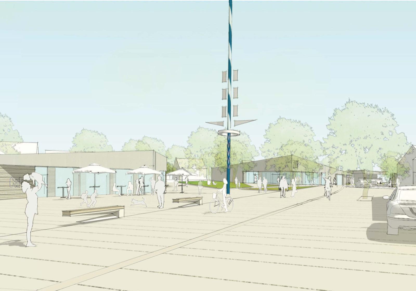 New village centre. visualization: ATP/Logo Verde