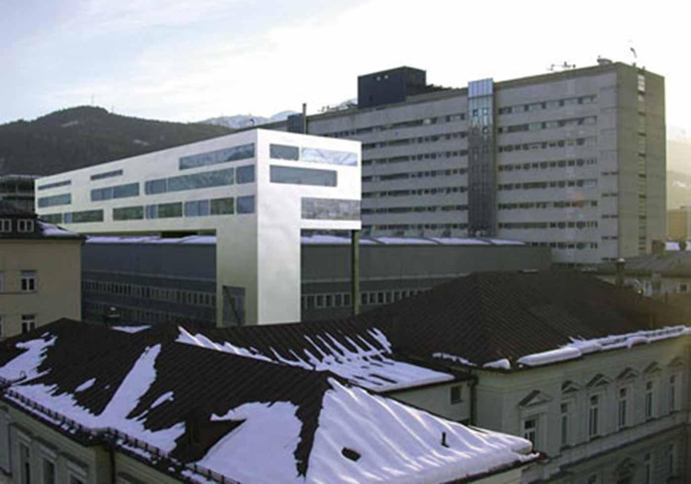 Überbauung Chirurgie, Univ. Klinik, Innsbruck, AT