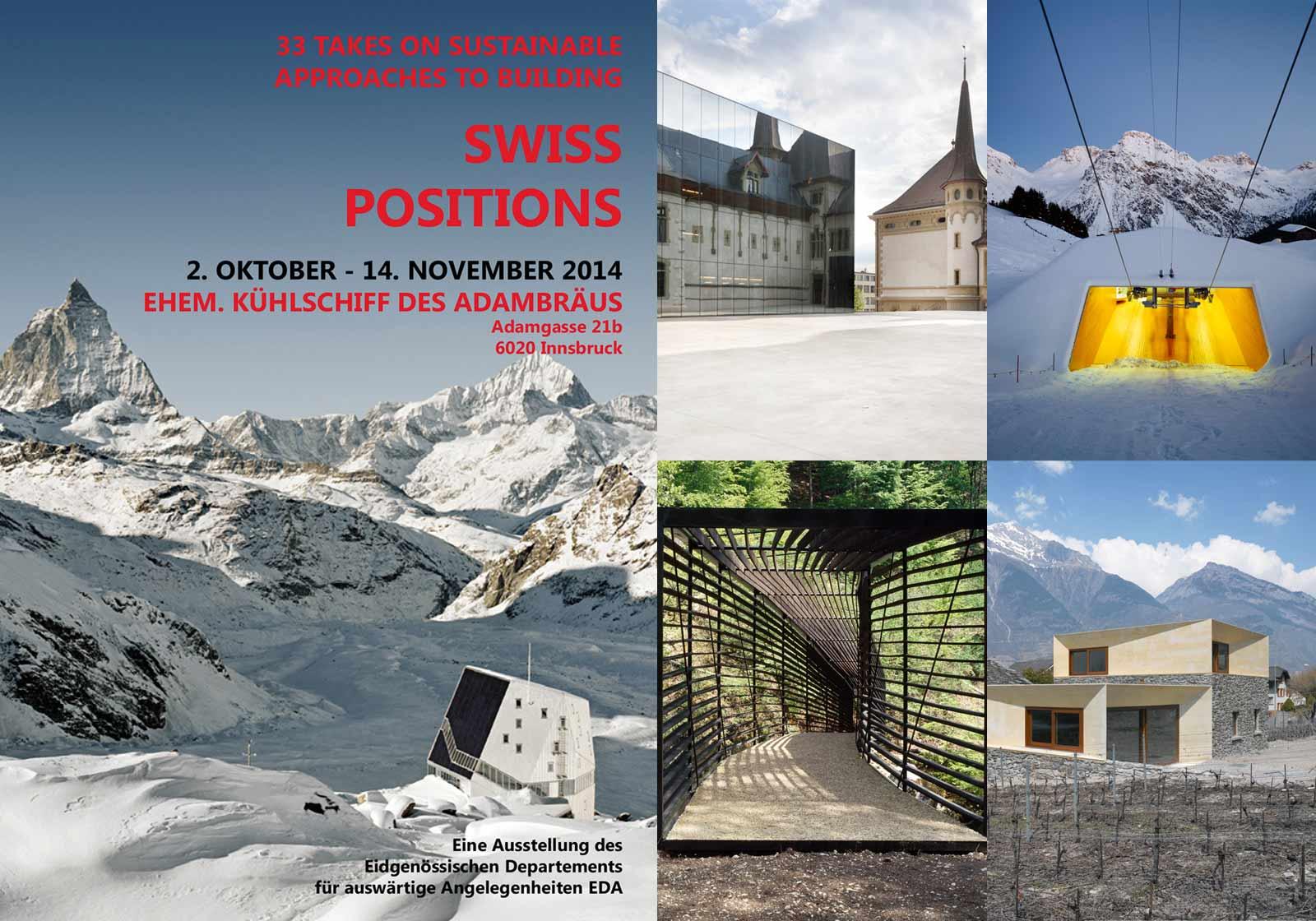Swiss Postitions. Ausstellung von 2.10. bis 14.11.
