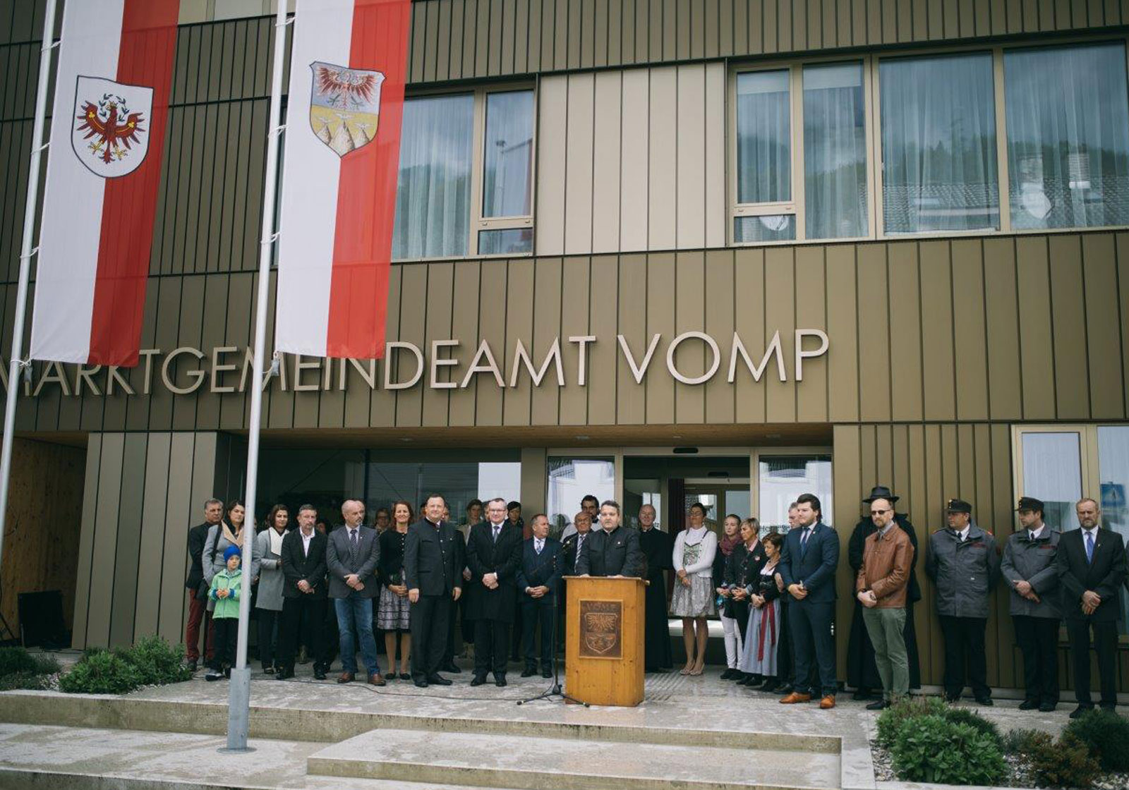 Ceremonial opening of the new municipal offices. Photo: Marktgemeinde Vomp