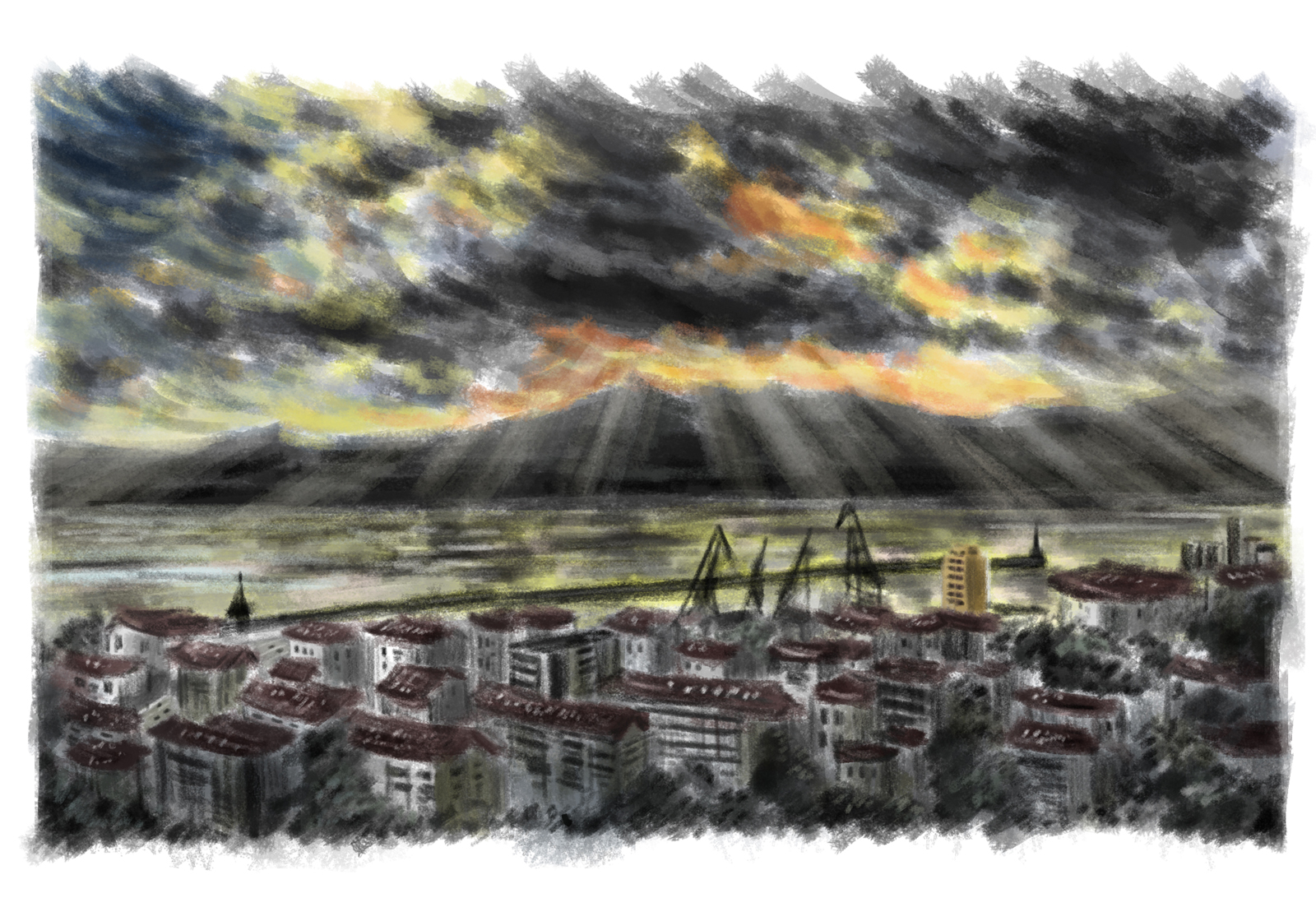 'Rijeka, turbulent city' Illustration: Tinghan Zhou
