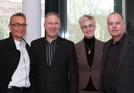 Andreas Rieser and Urs Klipfel, Managing Directors of ATP HAID Nuremberg, with Sabrina Mayr and Stefan Berger, Project Leaders. Photo: ATP/Wang