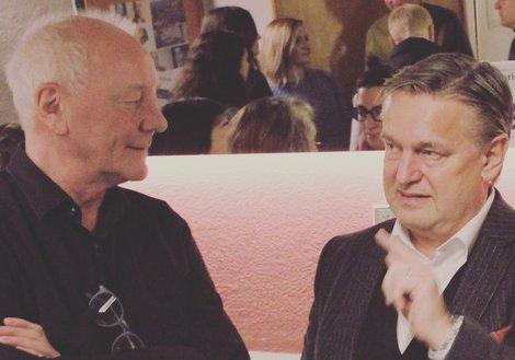Prof. Christoph Luchsinger (ETH Zürich) mit ATP Wien Designchef Dario Travas. Foto:  Rijeka Open City
