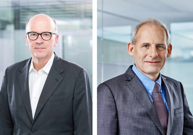 The architect Elmar Rottkamp (l.) will run the new ATP studios on Kurfürstendamm together with the building services specialist and ATP board member Thomas Herter (r.). Photo: ATP/Becker