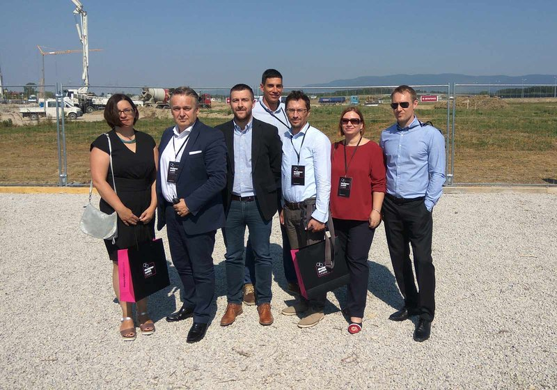 The ATP team – Klaudija Duspara, Dario Travaš, Branko Knežević , Mario Puljić, Sanja Tušek, and Goran Bačak – together with Josip Bošnjak, the external site supervisor (5th from left).