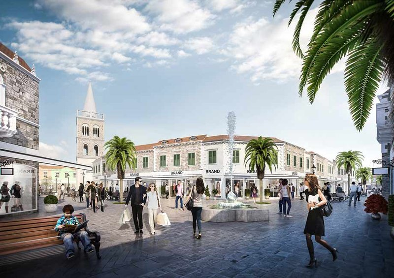 In der Gestaltung greift die Architektur moderne sowie typisch regionale Stilelemente und Materialien Kroatiens auf. Visualisierung: zoom VP/ATP