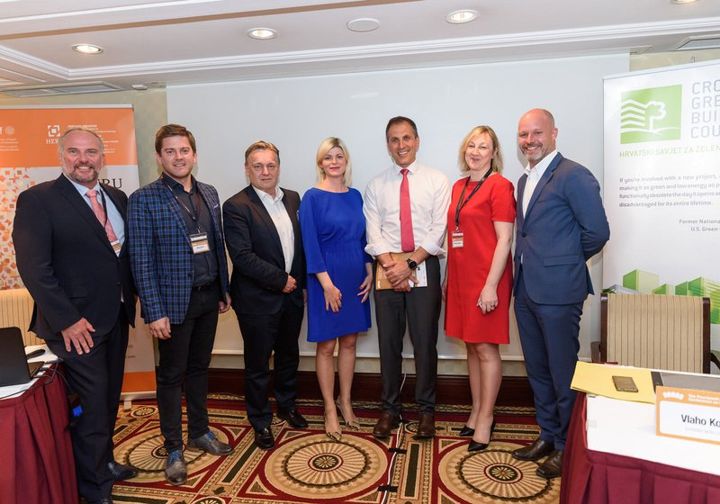 From left. Paul Buckley (CEO of the International American School Zagreb), Boris Turkić (Co-Founder/CEO M+ Agency), Dario Travaš (ATP Partner in Zagreb), Petra Škevin (CEO HPB Nekretnine d.o.o.), Vlaho Kojaković (Head of Property and Tourism HBOR), Sn