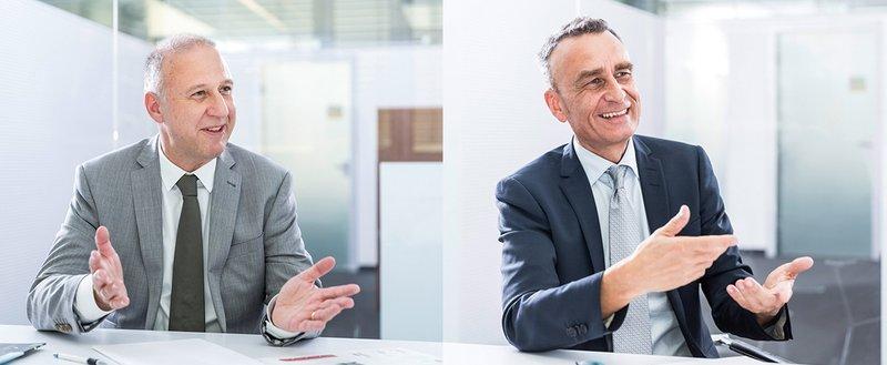 Urs Klipfel (l.) und Andreas Rieser (r.) leiten künftig den ATP-Standort in Nürnberg. Foto: ATP/Rauschmeir