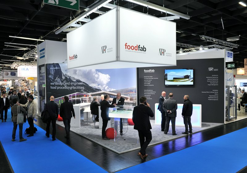 Foodfab and ATP's stand at Anuga FoodTec. Photo: Frank Jankowski Fotografie