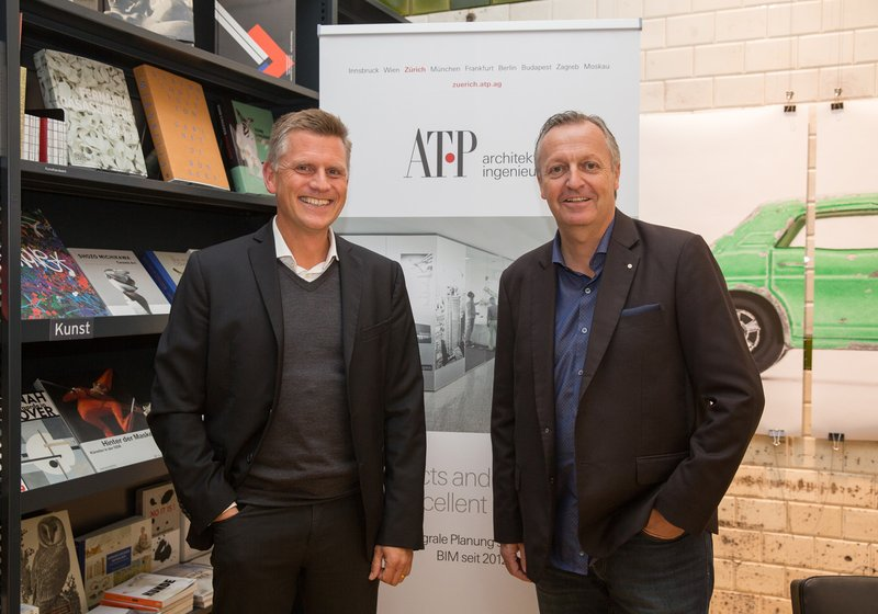 Matthias Wehrle and Michael Gräfensteiner, the Managing Directors of ATP Zurich, are delighted with the success of the Architecture Film Days. Photo: ATP