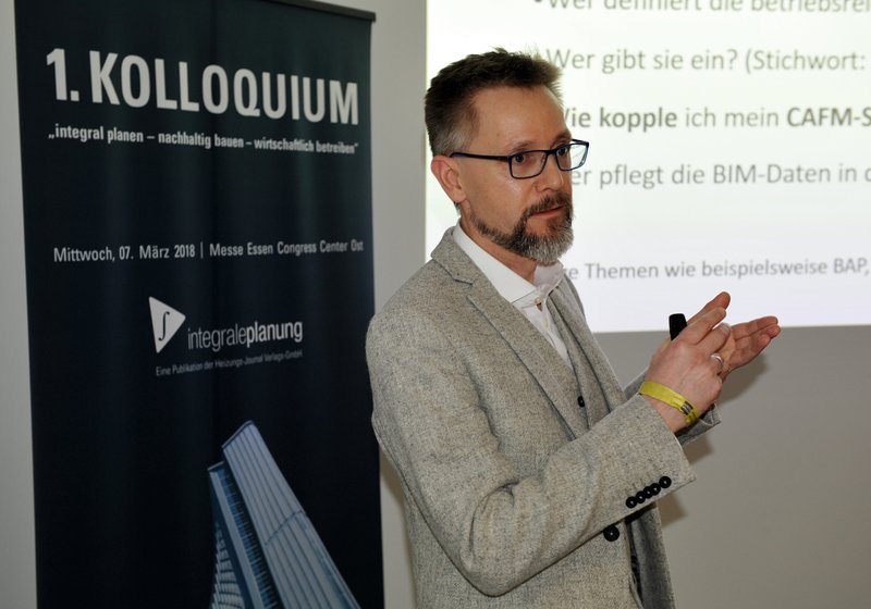 "Oliver John, Plandata, speaking on the subject of ""Digital Buildings"". Photo: Robert Donnerbauer"