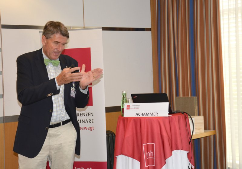 ATP CEO Christoph M. Achammer argues for the digitalization of building. Photo: imh