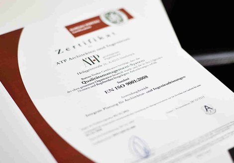 QM Certificate ISO 9001 Quality Management.